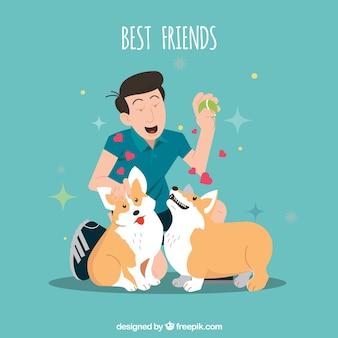 Najlepsze tło przyjaciół ze zwierzętami