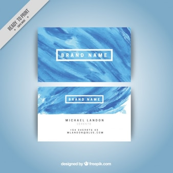 Niebieska farba plam korporacyjnych kart