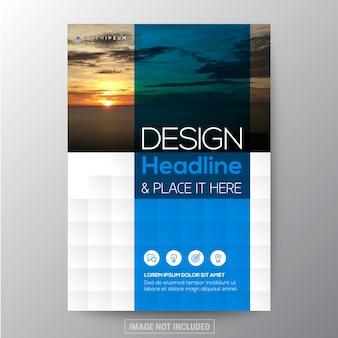 Niebieski i teal diament kształtu tła graficzne dla broszury roczne pokrycie raportu Ulotka plakat szablonu projektu