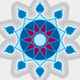 Niebieski Islamski dekoracyjnego