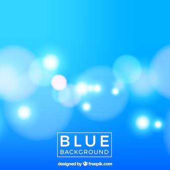 Niebieski rozmyte tło z światła