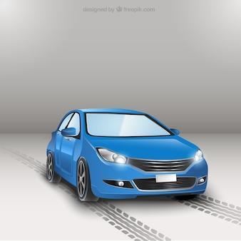 Niebieski samochód