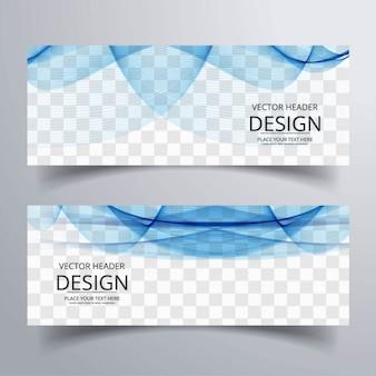 Niebieskie faliste transparenty