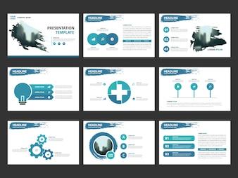 Niebieskie szablony abstrakcyjne prezentacji