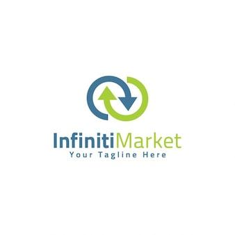 Nieskończoność Market Logo Template