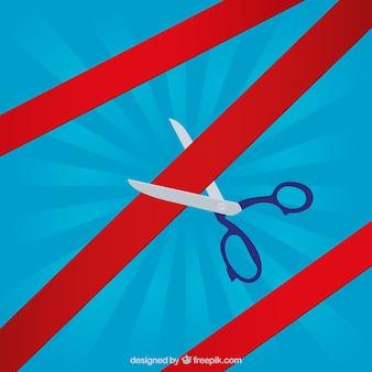 Nożyczki inauguracyjne i czerwona wstążka
