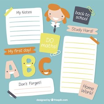 Notatki szkolne spakować