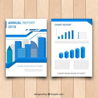 Nowoczesna broszura z biznesowym stylem