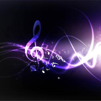 Nowoczesna muzyka faliste tło