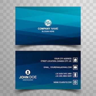 Nowoczesna niebieska wizytówka