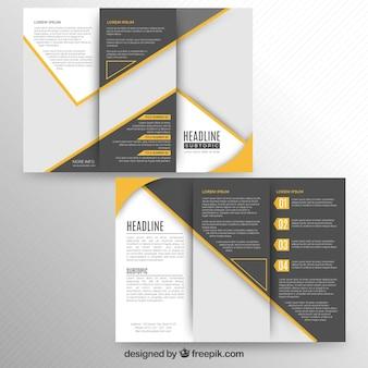 Nowoczesna trójwarstwowa broszura