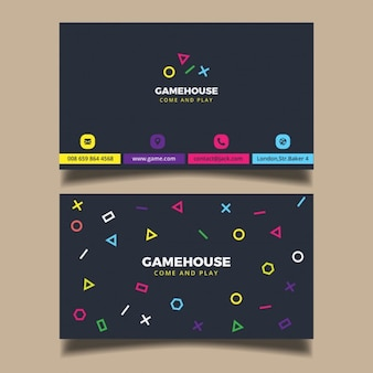 Nowoczesna wizytówka kolorowe elementes