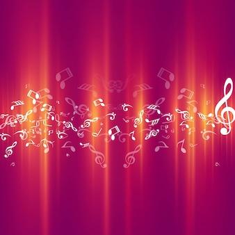 Nowoczesne błyszczące tło muzyczne