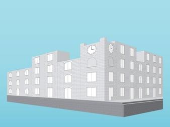 Nowoczesne budynki 3D ilustracji