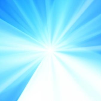 Nowoczesne niebieskie tło promieni