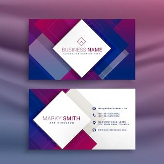 Nowoczesny fioletowy projekt wizytówki dla swojej marki