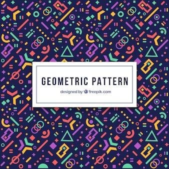 Nowoczesny geometryczny wzór z futurystycznymi kształtami