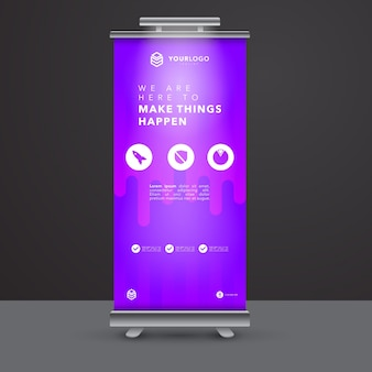 Nowoczesny roll Up Banner