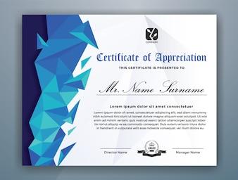 Nowoczesny szablon certyfikatu osiągnięć