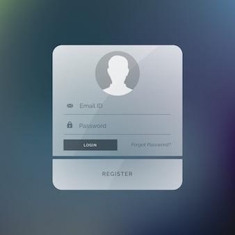 Nowoczesny wzór szablonu formularza logowania interfejs użytkownika