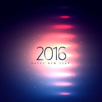 Nowy rok karty z różowych świateł