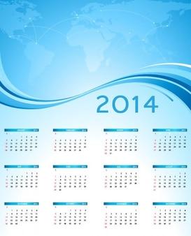 Obraz świata z kalendarza 2014