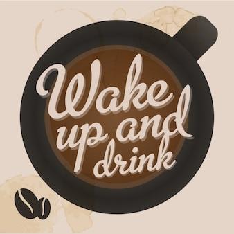 obudzić i wypić kawę