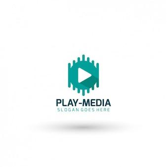 Odtwarzacz wideo szablon logo