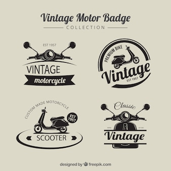 Odznaki Vintage motobike