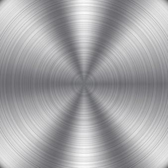 Okrągły metal tle