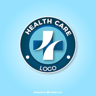 Opieka zdrowotna krzyż logo