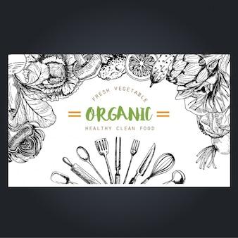 Organiczne warzywa tle