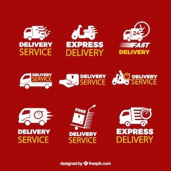 Oryginalny zestaw etykiet dostawczych