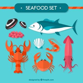 owoce morza i ryby wektor wektor darmowe pobieranie