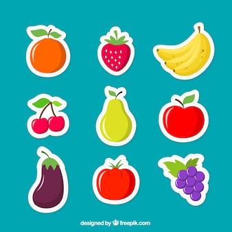 Owoce naklejki