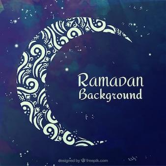 Ozdobne ramadan tle księżyca