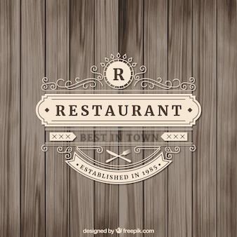 Ozdobne restauracja logo