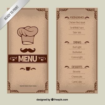 Ozdobne Szablon menu