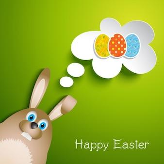 Płaski Easter Bunny Greeting Card