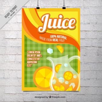 Płaski sok pomarańczowy plakat