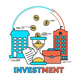 Płaski tło inwestycje