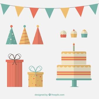 Płaskie elementy urodziny