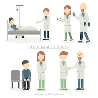 Płaskie sytuacjach medycznych
