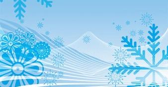 Płatki śniegu tle