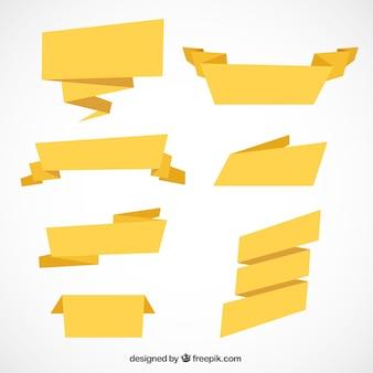 Paczka siedmiu wstążkami w stylu geometrycznym