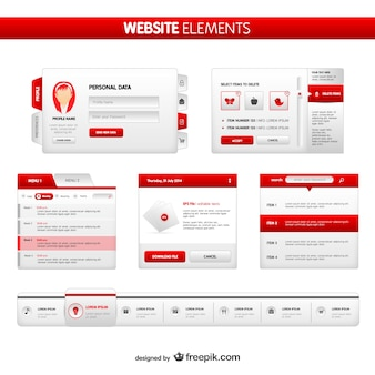 Pakiet elementów strony