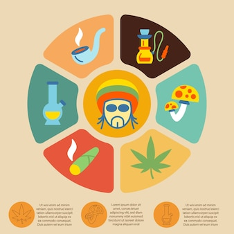 Palenie infografika szablon