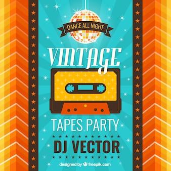 Party plakat vintage
