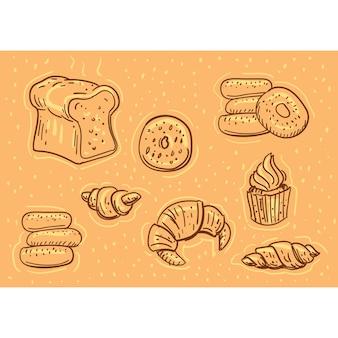 Pastelowa doodle ilustracji