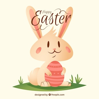 Piękny Happy Easter Bunny